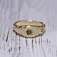 """Кольцо с коричневым бриллиантом 3,5мм/0,16кт """"Принцесса Ацтеков"""" 550$"""