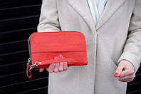 Кожаный кошелек-клатч Манхеттен   Винтажный Коралл, фото 1