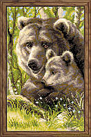 """Набор для вышивания крестом Риолис 1438 """"Медведица с медвежонком"""""""