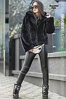 Полушубок женский Автоледи (черный)