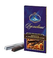 Шоколад ВДОХНОВЕНИЕ МИНДАЛЬ И ТРЮФЕЛЬНЫЙ КРЕМ кондитерской Бабаевской фабрики 100 грамм