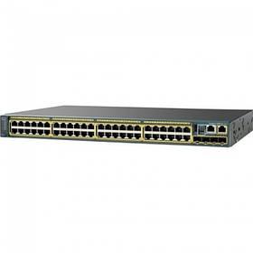 Коммутатор Catalyst 2960-SF 48 FE, PoE 740W, 4 x SFP, LAN Base (WS-C2960S-F48FPS-L)