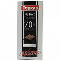 Испанский   черный шоколад  без сахара Torras 70%  200грамм