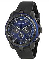 Мужские часы Ecosphere Eco-Drive Chronograph Blue Dial Black Polyurethane