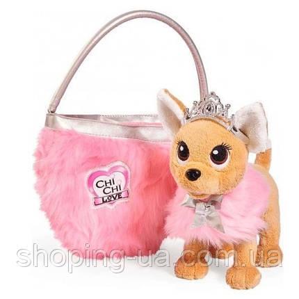 Собачка Чихуахуа Принцесса красоты в меховом манто с тиарой Chi Chi Love Simba 5893126, фото 2