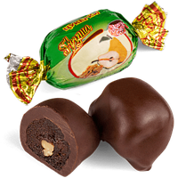 Шоколадные конфеты Груша с грецким орехом Skava