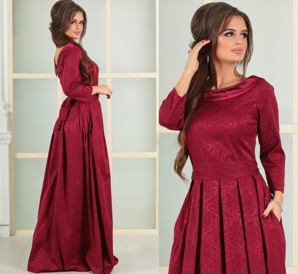 de7d2a0998b Великолепное вечернее платье в пол жаккард + атлас РАЗМЕРЫ 42