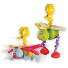 Игрушка-подвеска на прищепке - ЖУЖУ в ассорт. дрожащие бабочка и пчёлка 10555 Taf Toys