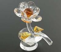Хрустальный цветок янтарный