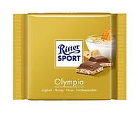 Шоколад Ritter Sport  Риттер спорт  Олимпия молочный с йогуртом, медом и лесным орехом   100 грамм