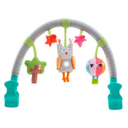 Музыкальная дуга для коляски - ЛЕСНАЯ СОВА звук свет 11875 Taf Toys, фото 2