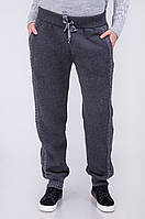 Женские штаны с вязаной вставкой
