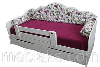 """Кровать односпальная """"Л-6"""" с валиками, фото 3"""