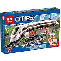 Конструктор Lepin 02010 аналог Lego Train 60051 Скоростной пассажирский поезд, 610 дет на р\у, фото 1