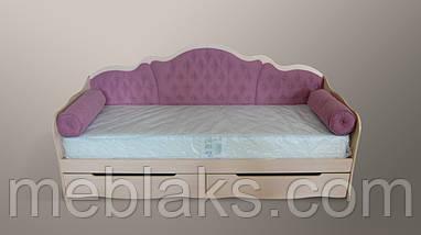 """Кровать односпальная """"Л-6"""" с валиками, фото 2"""