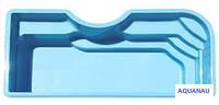 """Бассейн """"КОРСИКА"""" 8,4 х 3,8 х 1,6м. Базовый цвет - голубой."""