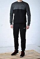 Зимний спортивный костюм Nike, Черный с серым, Флис