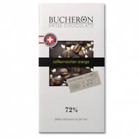 Шоколад Bucheron  горький шоколад с миндалем,клюквой и фисташкой 100 грамм