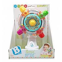 Развивающая игрушка на присоске Вертушка солнышко, Sensory
