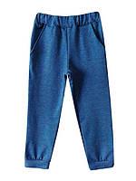 Спортивные брюки цвета джинс, с карманами.