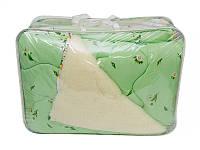 Шерстяное одеяло двуспальное евро (1 сторона шерсть)  200х210см, поликоттон Верона, Украина,
