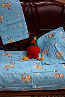 """Комплект постельного белья в кроватку """"Мишка на тучке"""" (2 цвета)"""