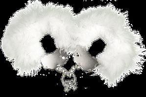 Наручники металлические с белой отделкой Adrien Lastic Handcuffs White