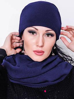 Темно-синя шапка АНГОРА