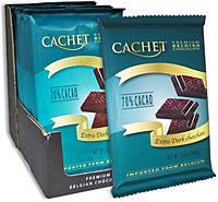 Бельгийский черный   горький шоколад Cachet экстрачёрный 300 грамм