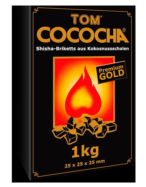 Уголь кокосовый для кальяна Tom Cococha Gold 1кг