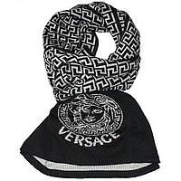 Трикотажный двухсторонний шарф Versace.