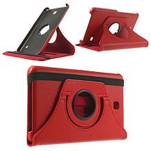 Чехол 360 Градусов Leather для Samsung Galaxy Tab 4 7.0 красный