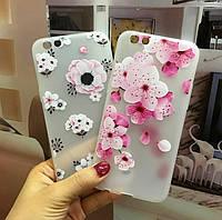 Чехол накладка с цветами для Iphone 6, 6s, 7