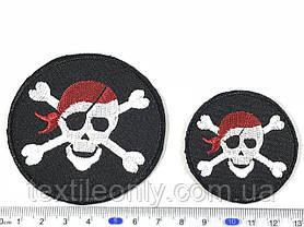 Нашивка череп пират 70 мм, фото 2