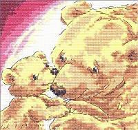 """Набор для вышивания крестом Чудесная игла 17-05 """"Медведица с медвежонком"""""""