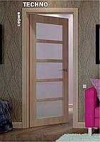 Межкомнатные двери с покрытием ПВХ серия Teсhno