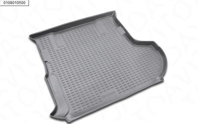 Полиэтиленовый коврик в багажник Mitsubishi Outlander XL сабвуфер (07-