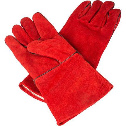 Краги спилковые (красные), фото 2
