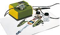 Малогабаритный компрессор PROXXON МК 240 и аэрограф PROXXON АВ100