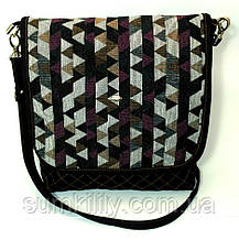Жіноча джинсова сумочка Кольорові трикутники