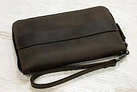 Кожаный кошелек-клатч Манхеттен| Винтажный Орех