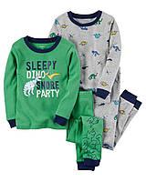Комплект пижам Carters из 4-ех единиц; 6, 7 лет