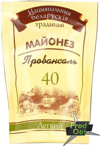 """ТМ БТ Майонезний соус """"Легкий 40%"""" 350г д/п"""