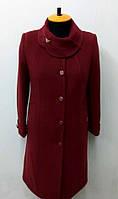 Пальто женское кашемировое Л-558-зимнее-вишневое