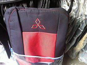 Чехлы на сидения Mitsubishi Lancer X 2007- 2.0L (3 подг.) EMC Elegant Classic черно красные