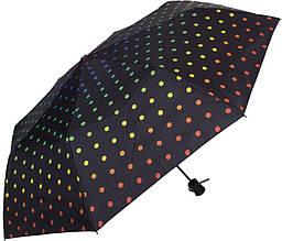 Красивый женский зонт полуавтомат HAPPY RAIN U42278-2, цвет - черный. Антиветер!
