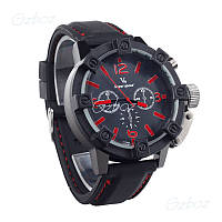 Часы мужские V6 Super Speed black-red