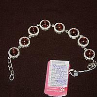 Царський срібний браслет із бурштином