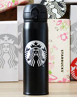 Термос Starbucks 480 мл (MH500), черный с лого, фото 1