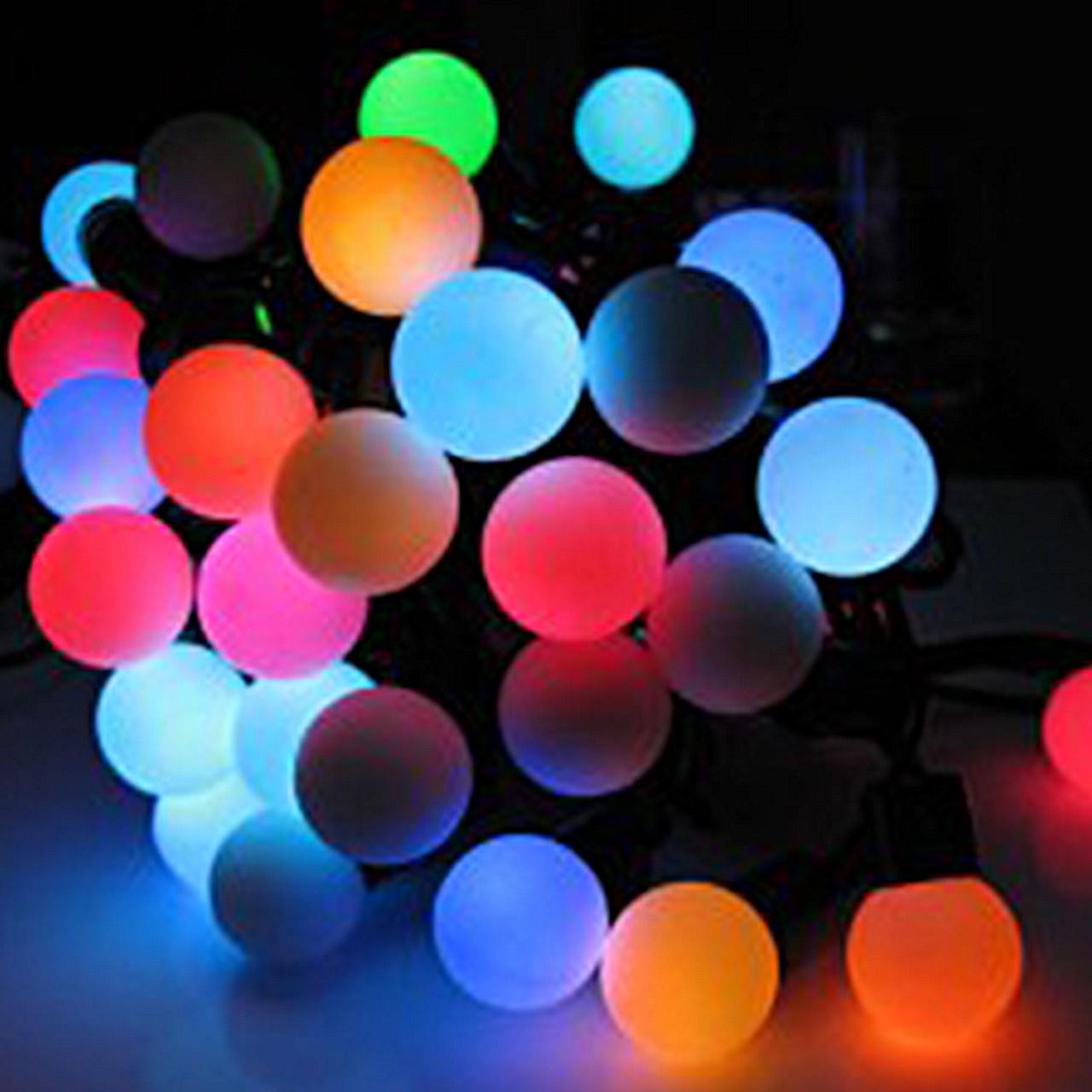 """Гирлянда светодиодная """"Шарики"""" маленькие 100 LED"""